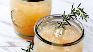 Grapefruit Rosemary Rum Punch - Herbal Grapefruit Rosemary Cocktail