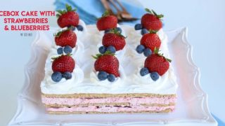 Strawberry Icebox Cake - no bake