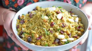 Instant Pot Curried Quinoa Pilaf – Pulav
