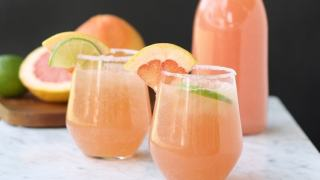 Sparkling Grapefruit Party Punch - Mother's Day Brunch Idea