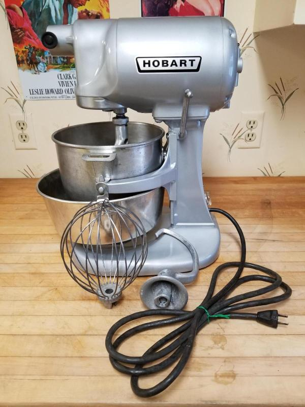 Vintage Hobart N50 5 Qt. Mixer Rare 1940s -50 With