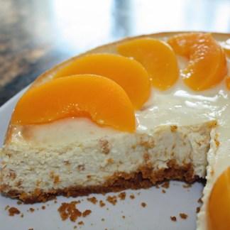 Peach-Cheesecake