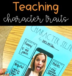 Teaching Character Traits in Upper Elementary - The Friendly Teacher [ 1265 x 1265 Pixel ]