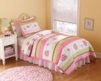 Crazy Pink Ladybug Quilt Set - The Frog and the Princess