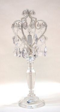 White Diamond Table Lamp Chandelier - The Frog and the ...