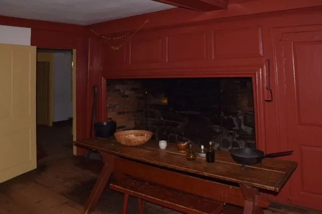 kitchen, hearth, colonial, noah webster house, national historic landmark, museum