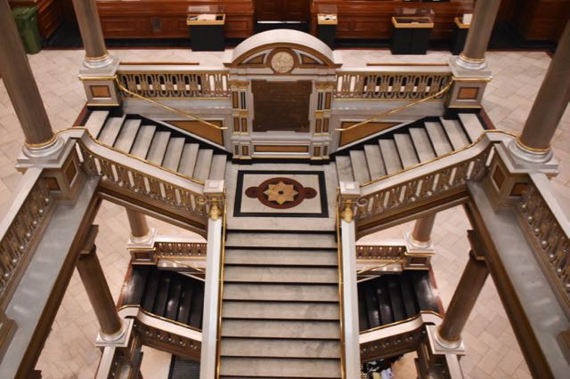 providence, city hall, staircase
