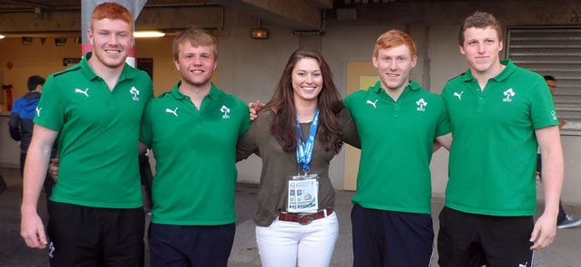 Ulster's Irish U20 players meet up with our reporter after the New Zealand match.