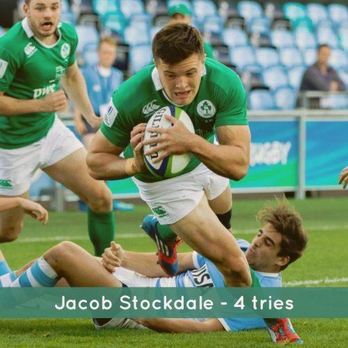 Jacob Stockdale 4 tries