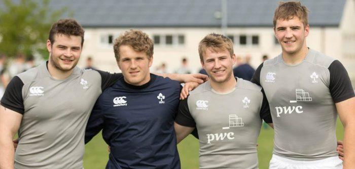 Peter Cooper, Angus Curtis, Jonny Stewart, Marcus Rea, Ireland U20