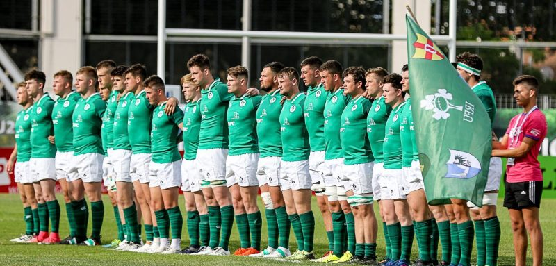 Ireland U20s ahead of their game against Georgia in Narbonne.
