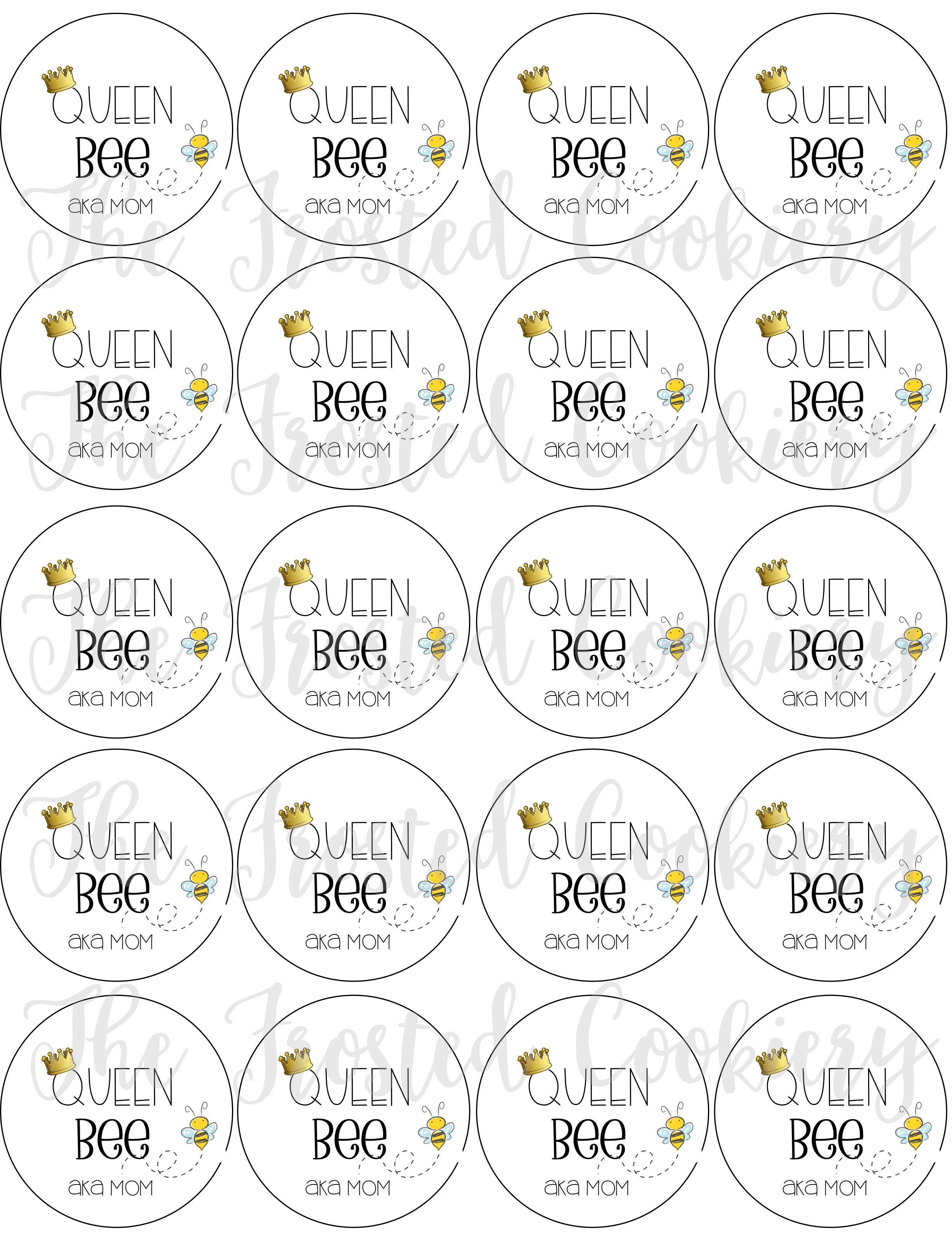 Queen Bee Mother S Day Circle Tag