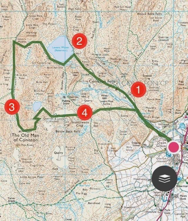 Old Man of Coniston 1 | Trail Route | thefrozendivide