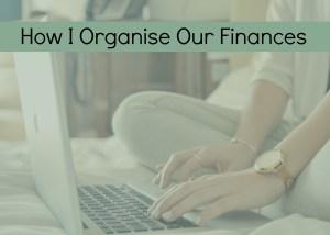 organise finances
