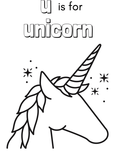 Unicorn Colouring Page The Frugal Cottage
