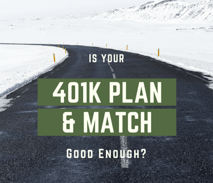 Is Your 401K Plan & Match Good Enough?