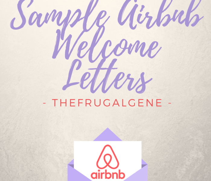 Sample Airbnb Template – Welcome Letters & Security Deposit