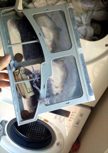 money-in-dryer