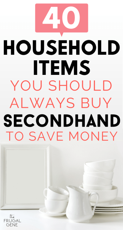 To save more money check out this list of things I recommend getting used if you can (because the money saved is worth the minor risk.) - Best things to buy used ideas, frugal people, used things to buy, shopping secondhand can save you money, reduce, reuse, ecofrugal, ecofriendly, thrift store tips, thrift store bargains, yard sales tips for yard sale shopping, what to buy used, find great deals everyday, frugal living, cheap, frugality, buy used clothing, furniture, goodwill, #save more money.