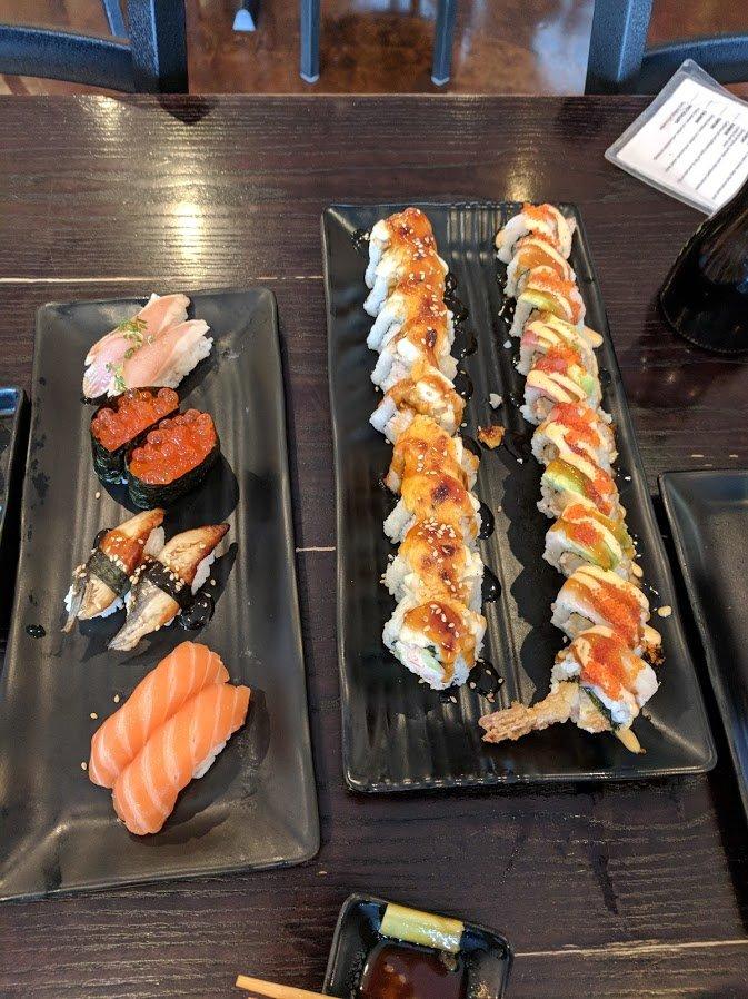 sushi roll feast