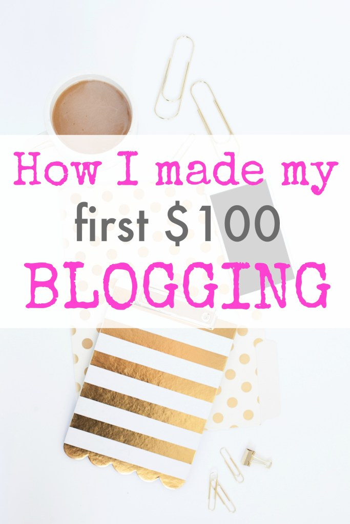 How to make money blogging. Here's how I made my first $100 blogging and how you can, too! Trust me, this is the absolute easiest way to make money blogging and requires practically no effort on your part. If you're ready to start a blog or just started one but aren't sure how to make money, this post can get you started!!