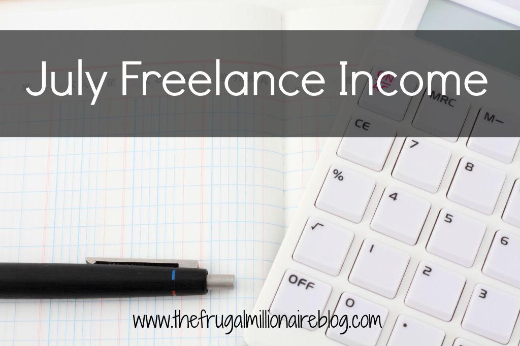July Freelance Income