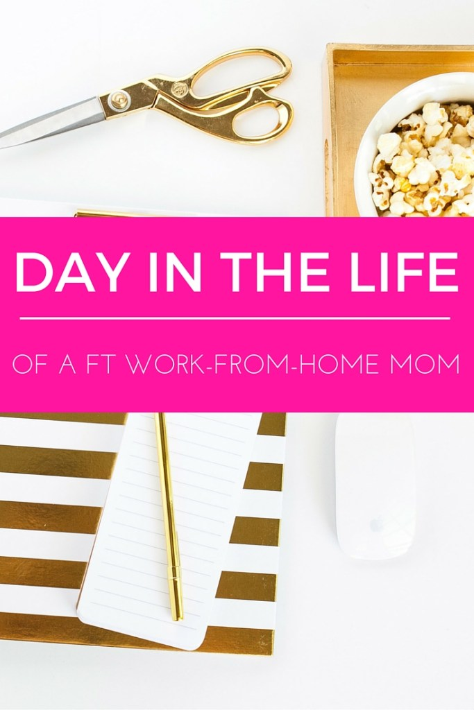 "A day in the life of a full-time work-from-home mom! I have two little girls and another one on the way; and I work FT from home in addition to blogging and freelancing. And honestly, I still have plenty of free time and rarely feel rushed. Here's how I manage to ""do it all!"""
