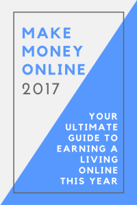 Ready to make money online in 2017?! My goal is to replace my full-time income this year! Here, I'm sharing the top ways to make money online so you can earn a living from home, too.
