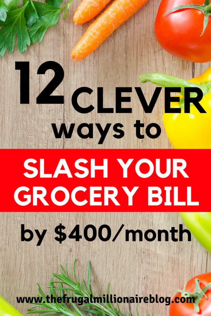 Do you want to cut your grocery bill in half?! Check out these 12 ways to cut your grocery bill for good! #savemoney #groceries #foodbudget