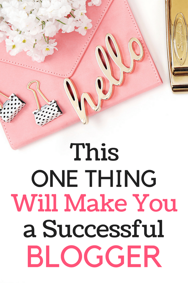 Trying to make it big as a blogger but feeling stuck? If so, this post is for you. Learn the ONE THING that will make you a better and more successful blogger. It's not hard; but it's the thing that most bloggers are missing!