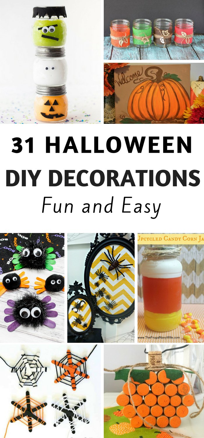 31 Fun And Easy Diy Halloween Decorations The Frugal Navy Wife