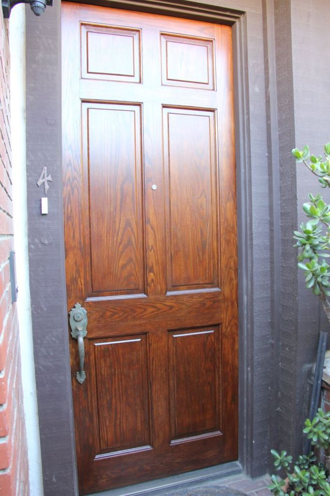 My new door finish