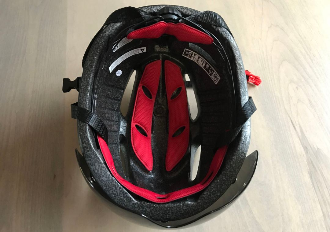 Inside the Base Camp Zoom Cycling Helmet