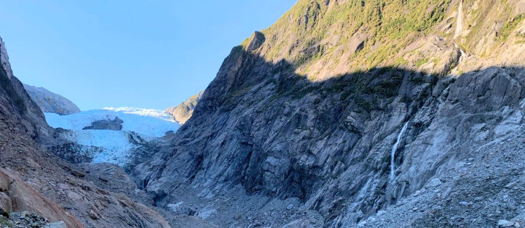 The terminal face of Franz Josef Glacier