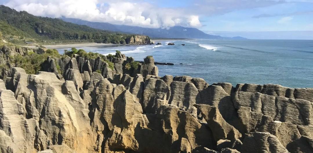 Pancake Rocks in Punakaiki on the West Coast of NZ