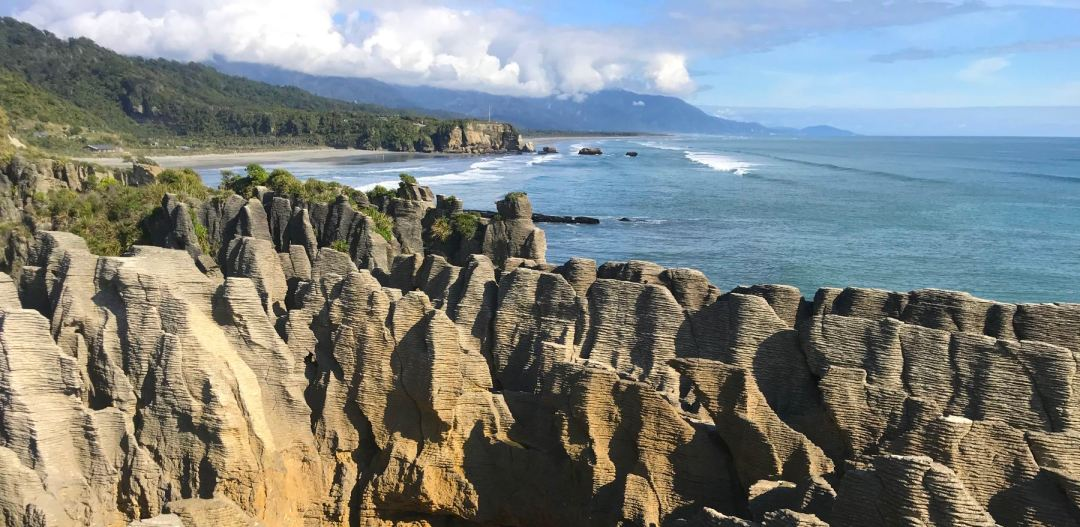 Pancake Rocks in Punakaiki on the West Coast of NZ