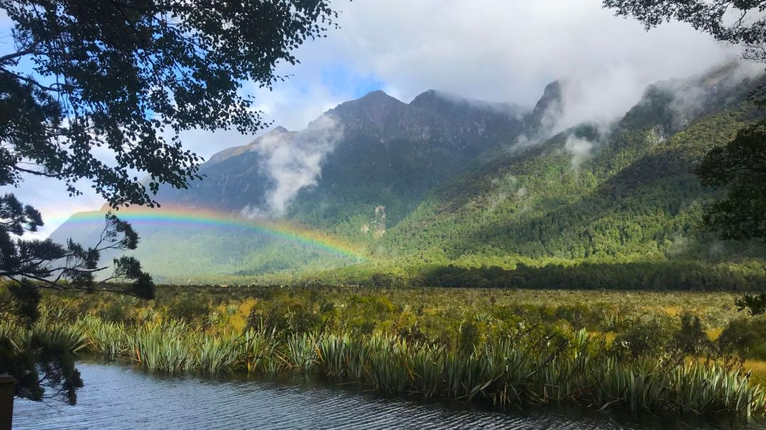 Rainbow on the way to Queenstown