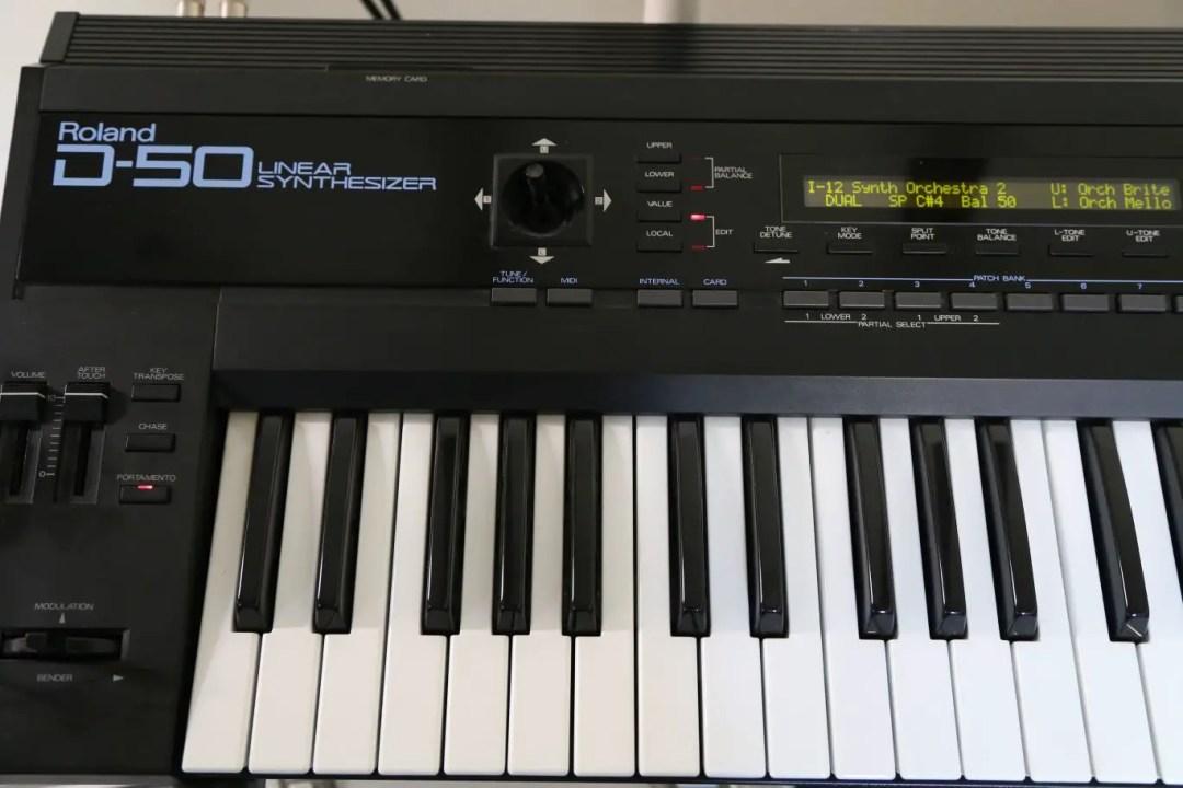 Closeup of Roland D50 that I sold on Craigslist