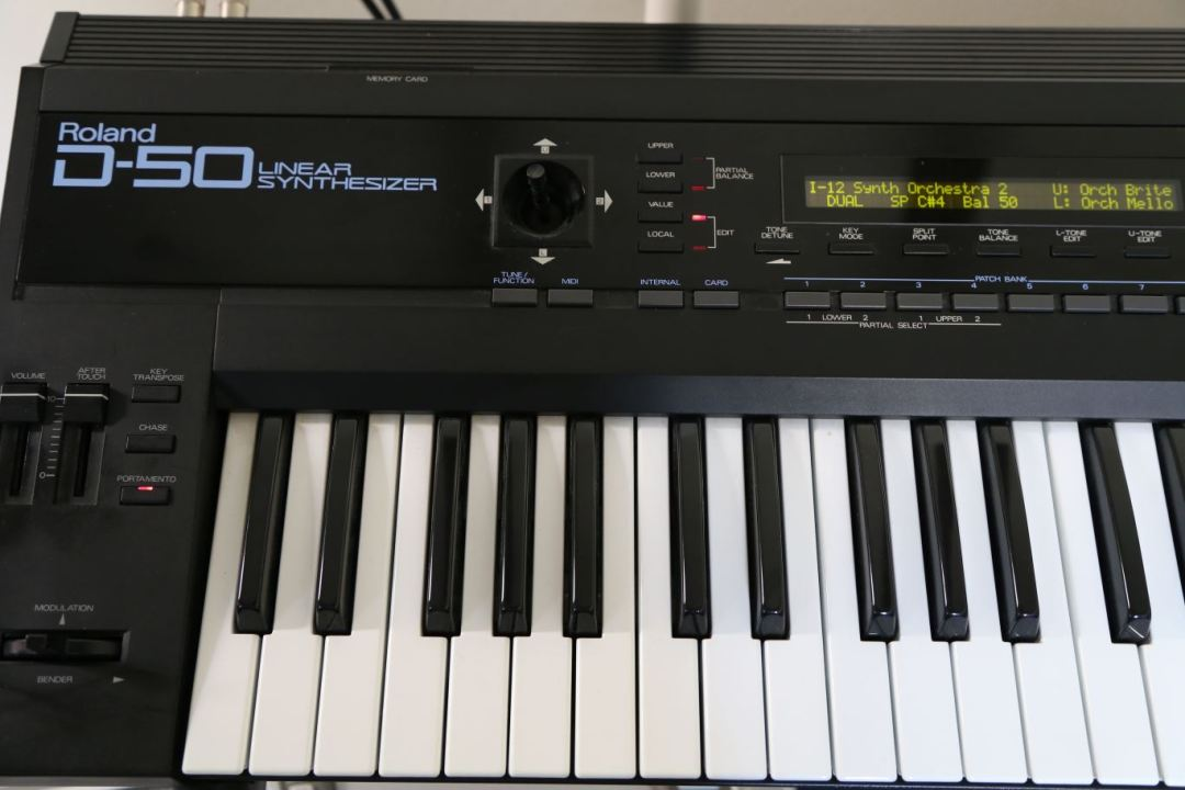 Closeup of Roland D50 that I sold on Craigslist
