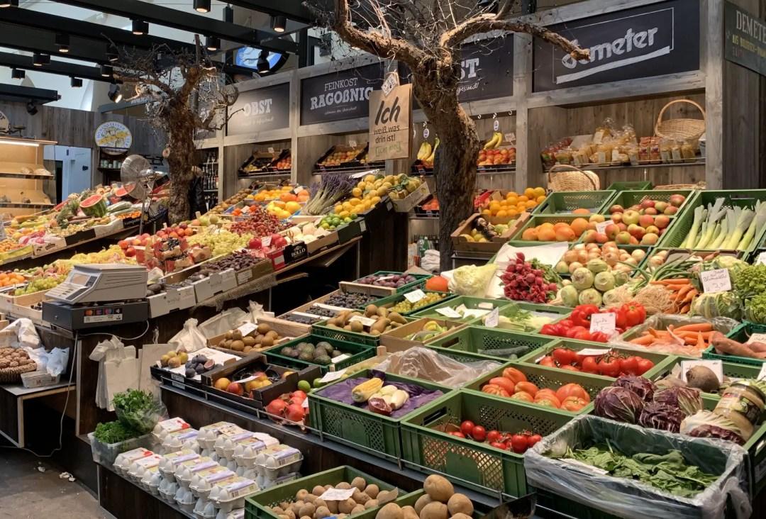 Fresh vegetables at the Markthalle