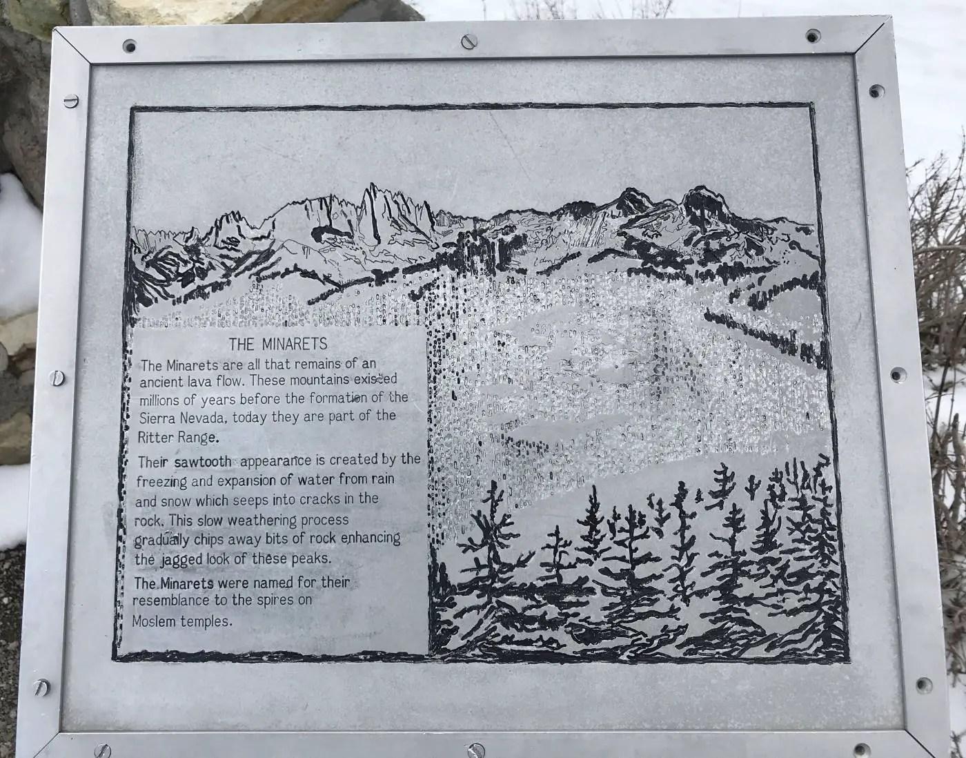 The Minarets plaque