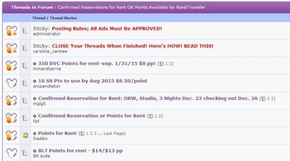 Screenshot of the MouseOwners Rent/Trade/Transfer Forum