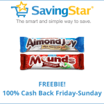 SavingStar Friday Freebie: Almond Joy or Mounds Bar