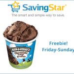 SavingStar Friday Freebie: Free Ben & Jerry's Mini Cup