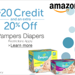 New Amazon Mom Members: $20 credit + 20% off all diapers
