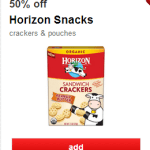 Get Two Free Boxes of Horizon Crackers at Target Through 5/23!