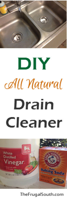DIY All Natural drain cleaner pinterest image