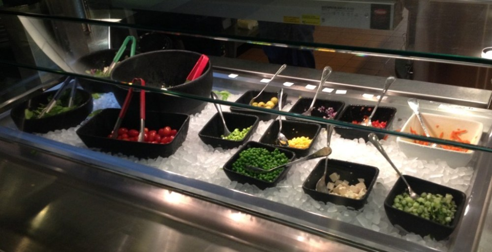 Create-your-own salad station