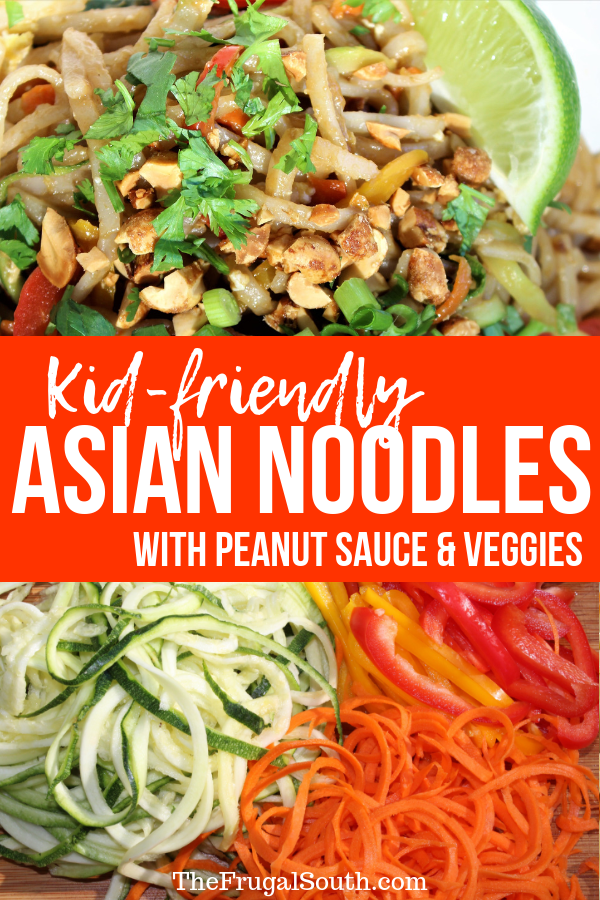 Asian Veggie Peanut Noodles - Easy & Kid-Friendly