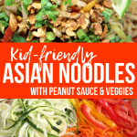 Asian Veggie Peanut Noodles – Easy & Kid Friendly